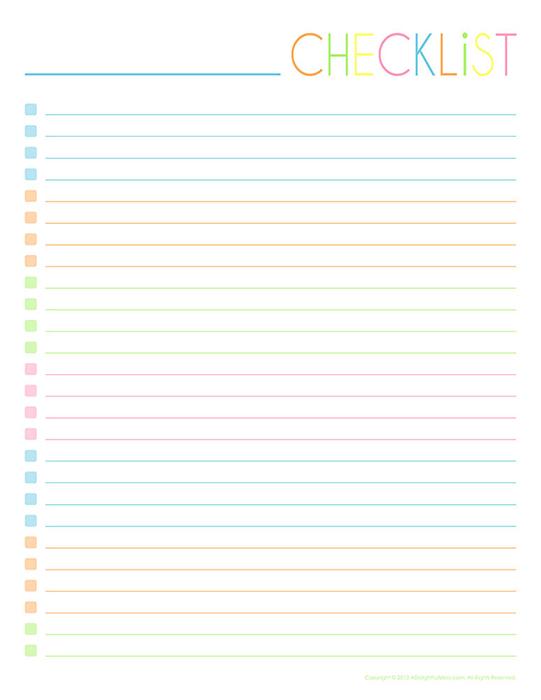 Empty-Checklist-One-Column